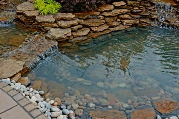 Garden pond edging