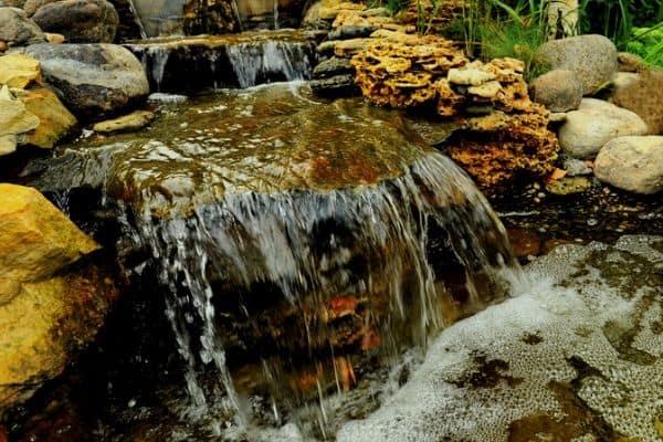 Creating a backyard waterfall