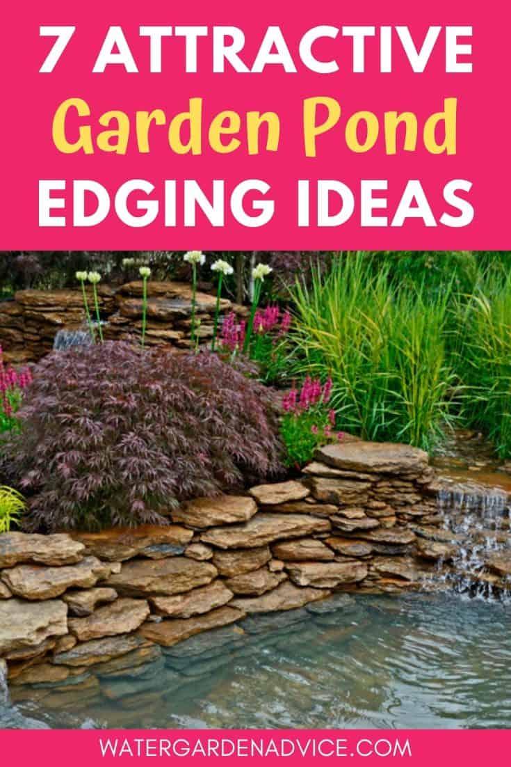 garden pond edging
