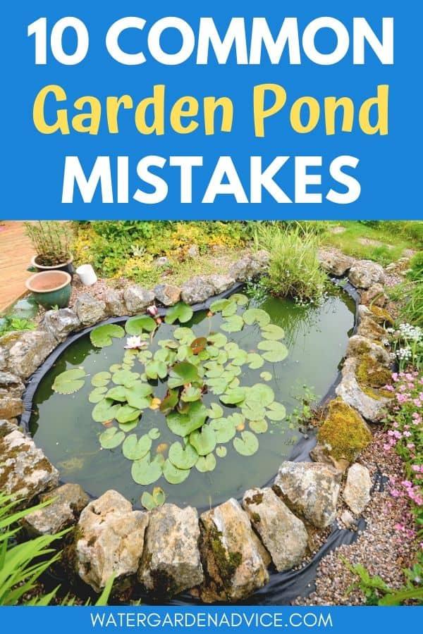 Garden pond mistakes